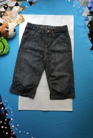 Стильные джинсовые шорты бриджи на 10 лет. Рост 140