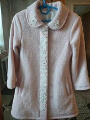 Пальто новое нежно розового цвета