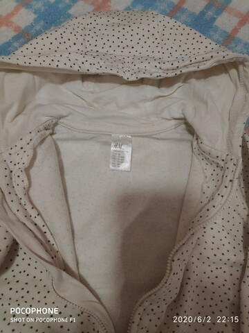 Кофта реглан свитшот в горошек фирмы H&M