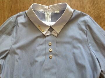 Стильная рубашка в синию полоску.