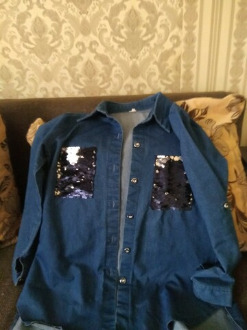Джинсова сорочка для дівчинки