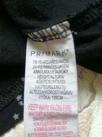 Лонгслив Primark бирка 7-8 лет