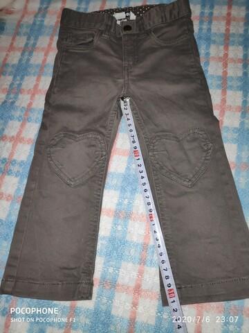 Джинсы штаны брюки на девочку цвет хаки фирма H&M
