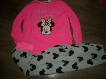 яркая флисовая пижама на 7-8 лет Primark Примарк Минни Маус