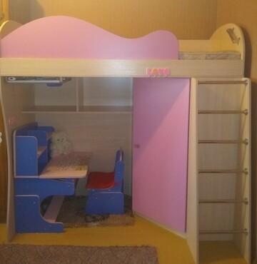 Детская кровать-чердак + матрас