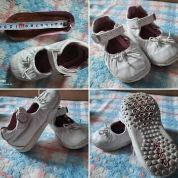 Белые туфли туфельки для девочки фирмы Geox