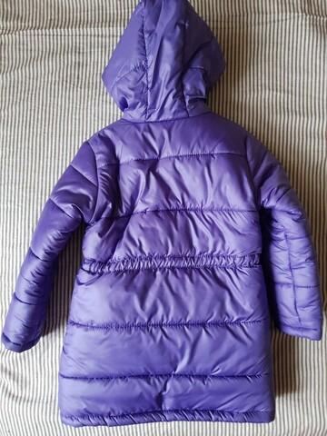 Теплая удлиненная куртка на овчине
