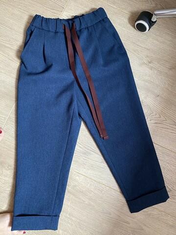 Темно синие брюки