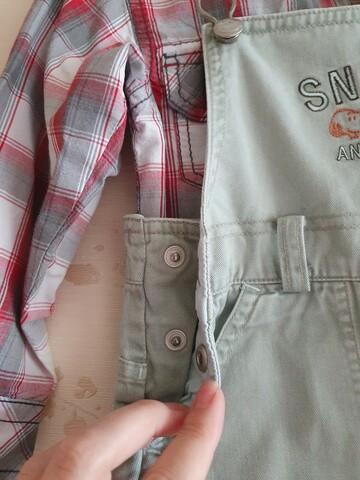 Летний комбинезон рубашка в подарок 92р комплект