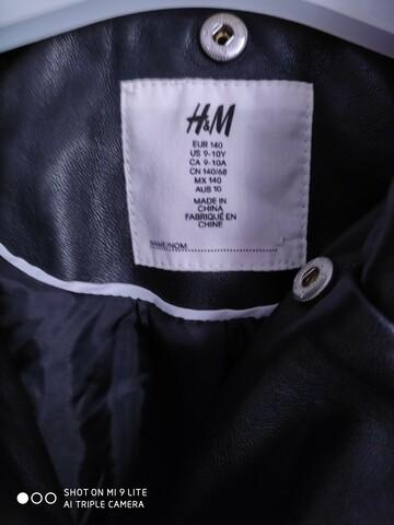 Кожаная косуха марки H&M