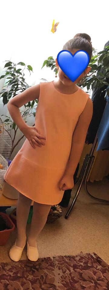 Персиковое платье 👗 на девочку