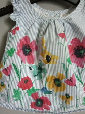 Маечка . блуза. футболка . распашонка. в полоску. цветы