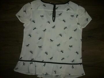 нарядная блузка в зебрах на 12 лет Next Некст