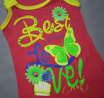 Детское летнее трикотажное платье Best Love малиновое (С`est la Vie, Венгрия)