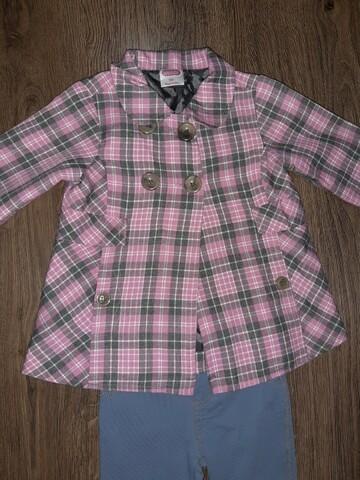 Пальто и лосинки для девочки на 12 мес