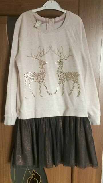 Платье с оленем