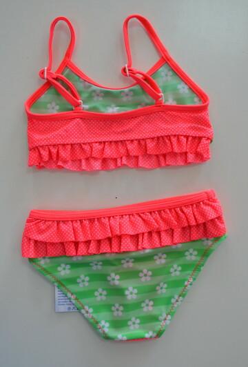 Детский раздельный купальник для девочки Strawberry-Клубничка (р.98-110 см) (KEYZI, Польша)