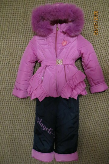 """Зимний комплект костюм комбинезон """"Принцесса"""" в идеале, на 110 см."""