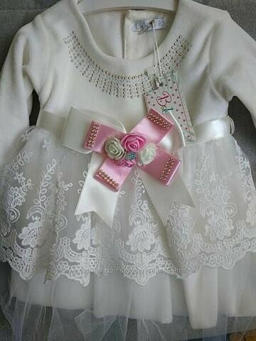 Нарядное платье 9-12 мес.