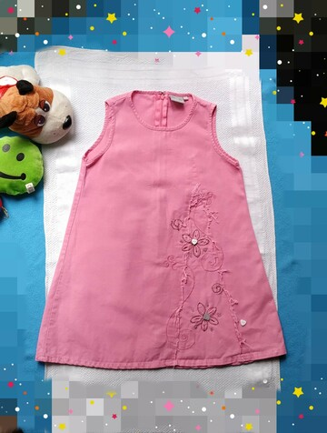 Лен/Коттон. Платье на 6 лет. Красивый декор