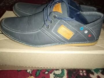 Туфли темно-синего цвета спортивного типа