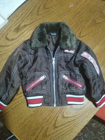 Коричневая куртка 6-12 мес. Max