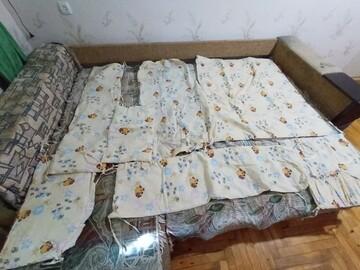 """Детский комплект в кроватку для новорожденных """"винни пух"""" бежевый 9 в 1"""