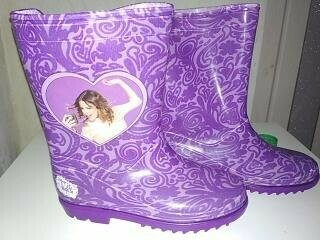 Новые резиновые сапожки Disney для девочки