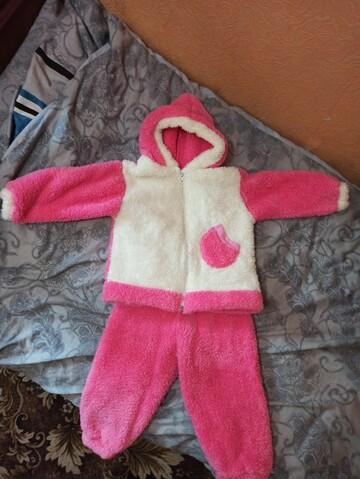 Теплий костюмчик для дівчинки