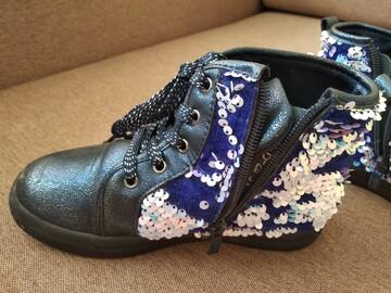 Деми ботинки с пайетками перевертышами