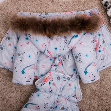 Детский зимний костюм  курточка+ комбез