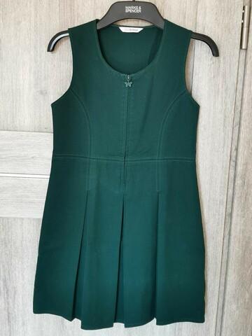 Зеленый школьный сарафан, M&S