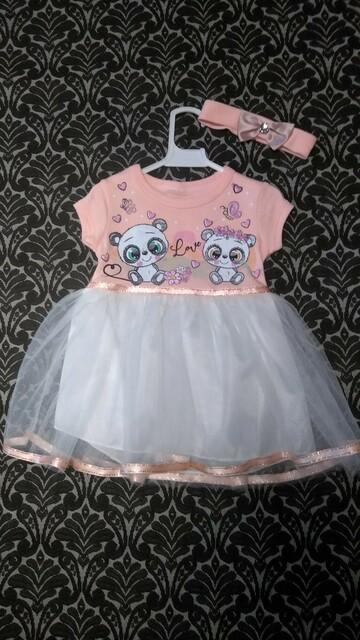 Новое платье с повязкой 62р
