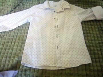 Рубашка белая в звёздочку