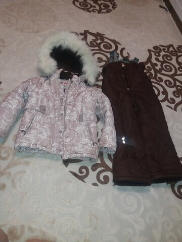 Теплый зимний комбинизон с курткой