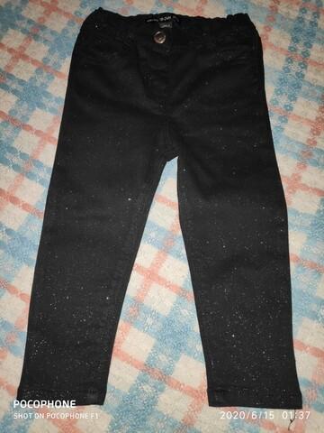 Брюки штаны джинсы с блёстками на девочку фирмы Baby girl