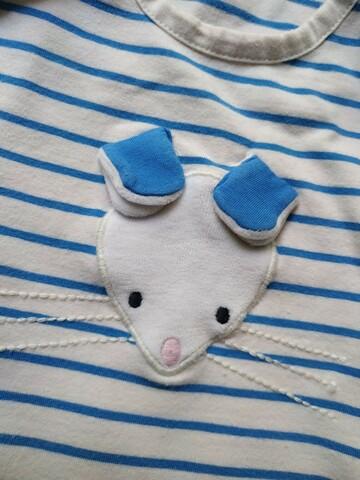 Маленькая мышка. Красивый Ромпер на 1_1.5 годика. Трикотажный