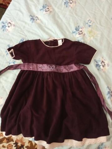 Платье велюр вишневое