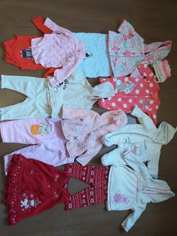 Набор вещей на девочку от 0 до 3 месяцев мы носили дольше12 веще