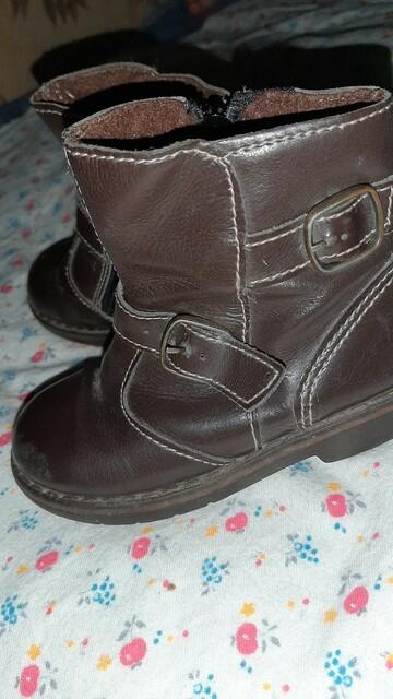 Осенние кожаные ботинки