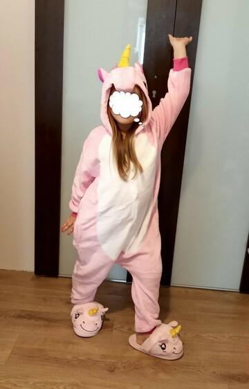 Пижама Кигуруми детская Единорог розовый