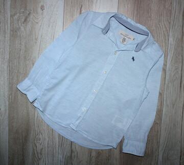 Стильная рубашка голубая сорочка рубашка с длинным рукавом H&m 5-6 лет, рост 110-116 см.