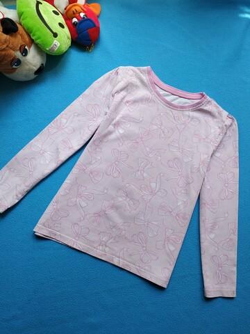 Нежная блузочка на девочку 6-7 лет. Принт бантики. Трикотажная