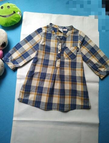 Стильное платье туника на 1 годик. Натуральная ткань.