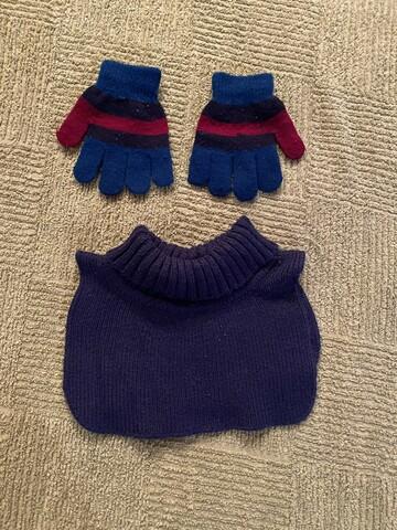 Комплект шапок + перчатки + хомут