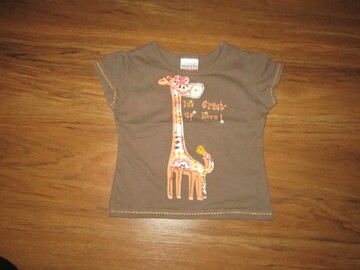 Хлопковая футболка на 6-9 мес. рост 68-74 см