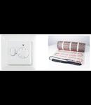 Pachet covor incalzire in parsoseala + termostat 2.5 metri patrati