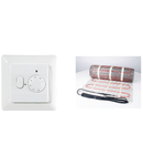 Pachet covor incalzire in parsoseala + termostat 3 metri patrati