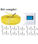 Pachet cablu incalzire in pardoseala + termostat digital  17 metri patrati