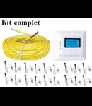 Pachet cablu incalzire in pardoseala + termostat digital  5.6 metri patrati